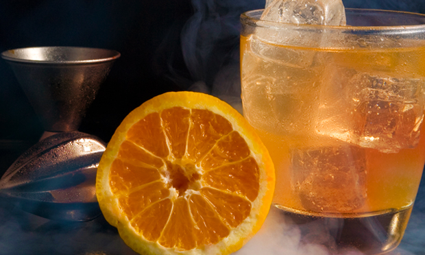 "Pumpkin infused vodka goes into this spooky ""Hickory Trickery"" cocktail"