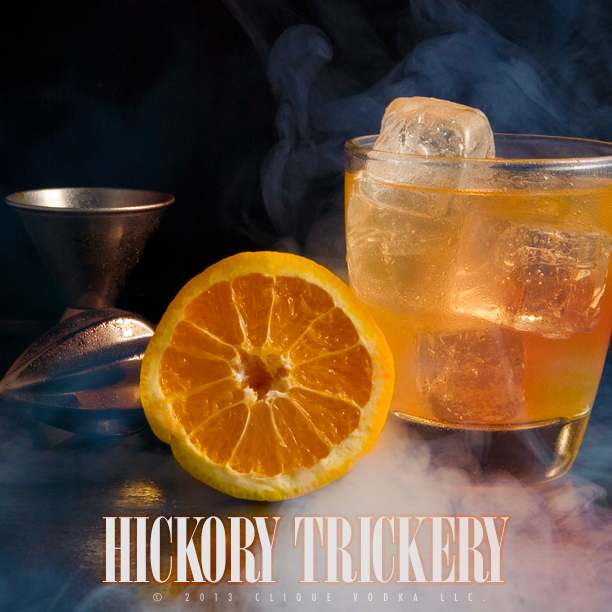 "Pumpkin infused vodka goes into this spooky ""Hickory Trickery""cocktail!"