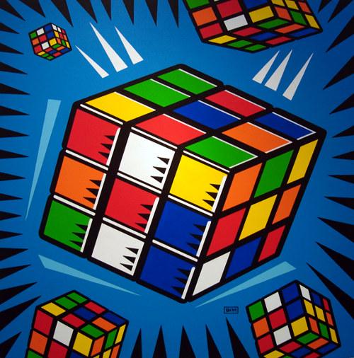Burton Morris' rubiks Cube