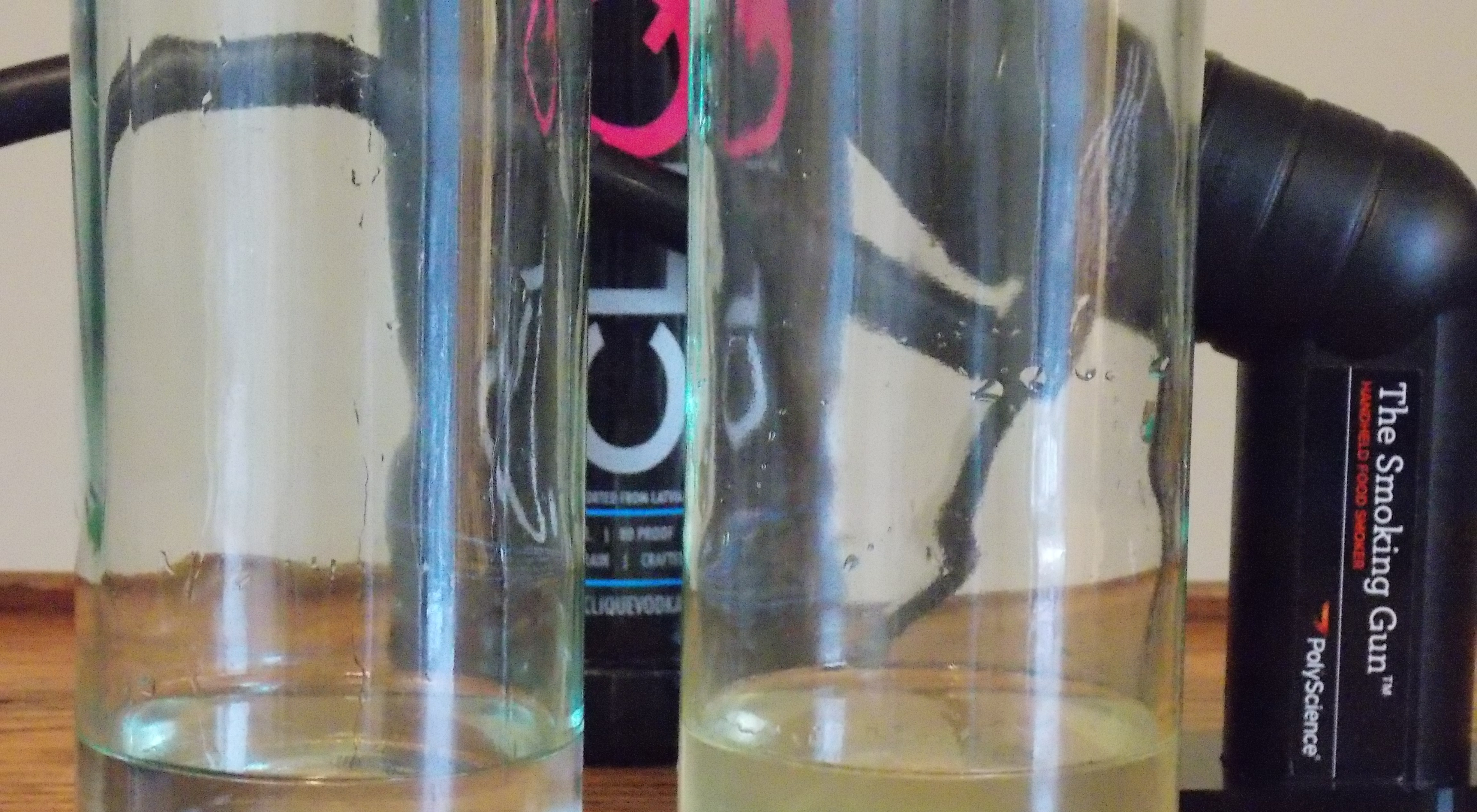 How to smoke Clique Vodka with a smoking gun