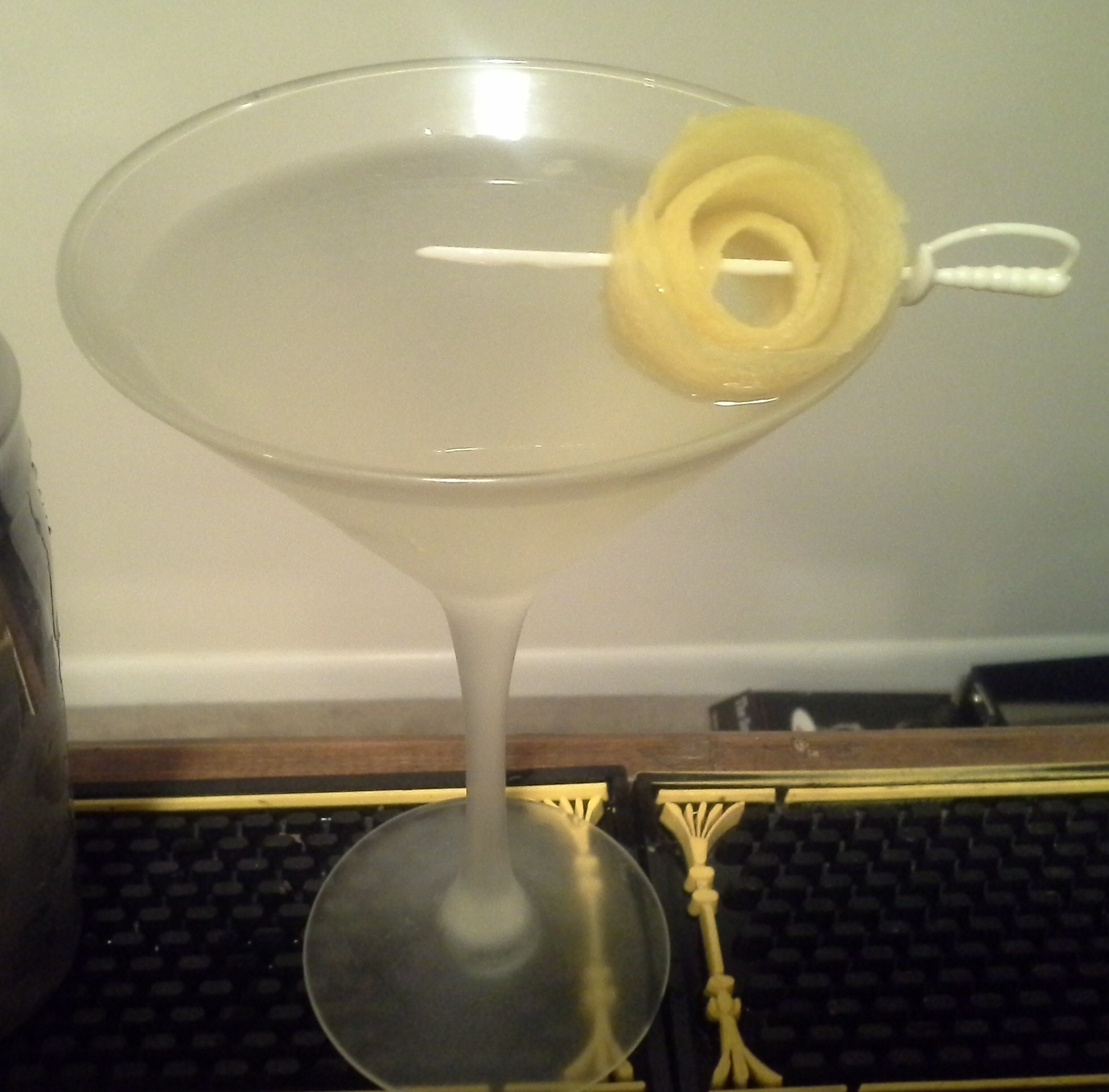 Lemondrop lemon peel rose garnish