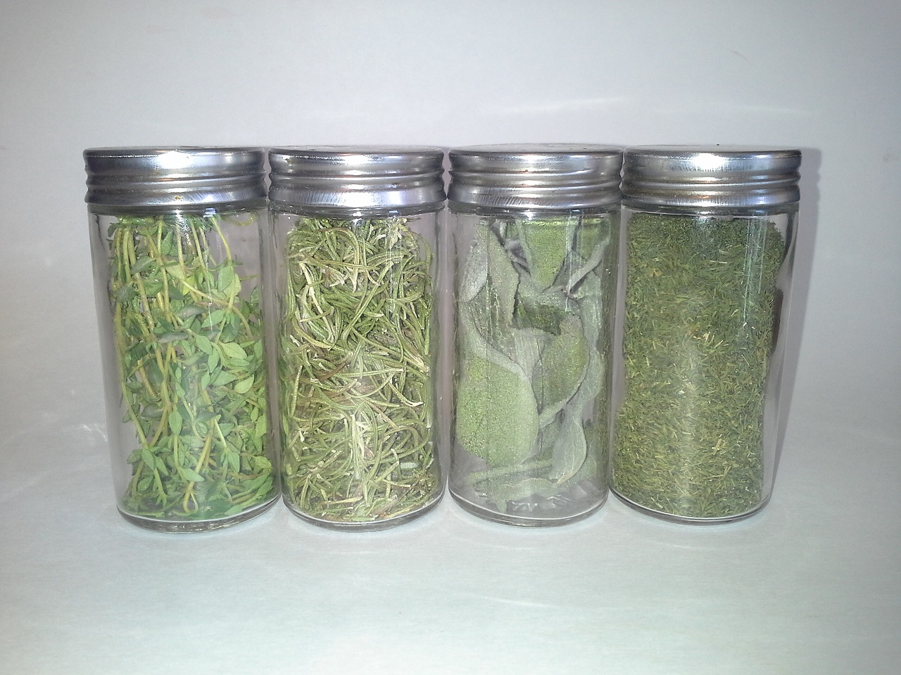 Store dried herbs in airtight containers
