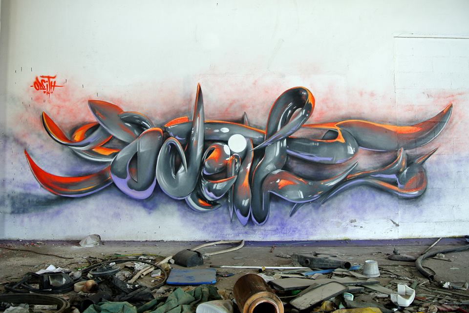 Incredibly bad ass 3d graffiti murals by odeith for 3d wall mural painting
